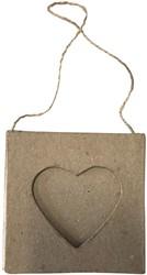 Graine Créative hartvormige kartonnen fotokader, ophangbaar, om zelf te decoreren