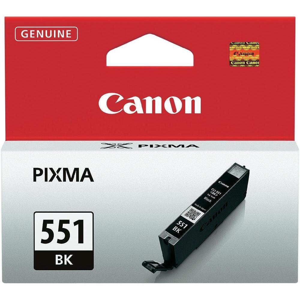 Canon inktcartridge CLI-551BK, 1.795 pagina's, OEM 6508B001, zwart