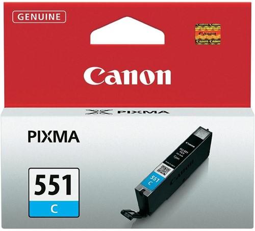 Canon inktcartridge CLI-551C, 332 pagina's, OEM 6509B001, cyaan