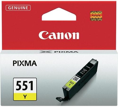 Canon inktcartridge CLI-551Y, 344 pagina's, OEM 6511B001, geel