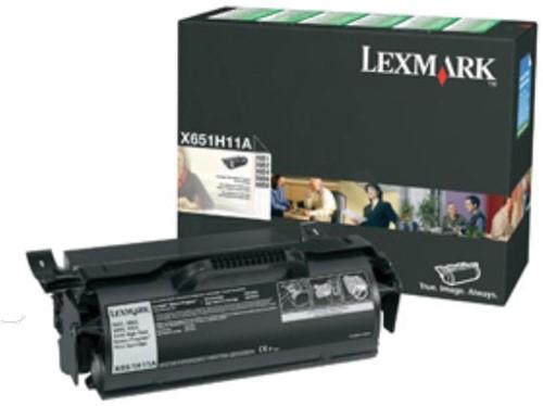 Lexmark Tonercartridge zwart return program - 25000 pagina's - X651H11E