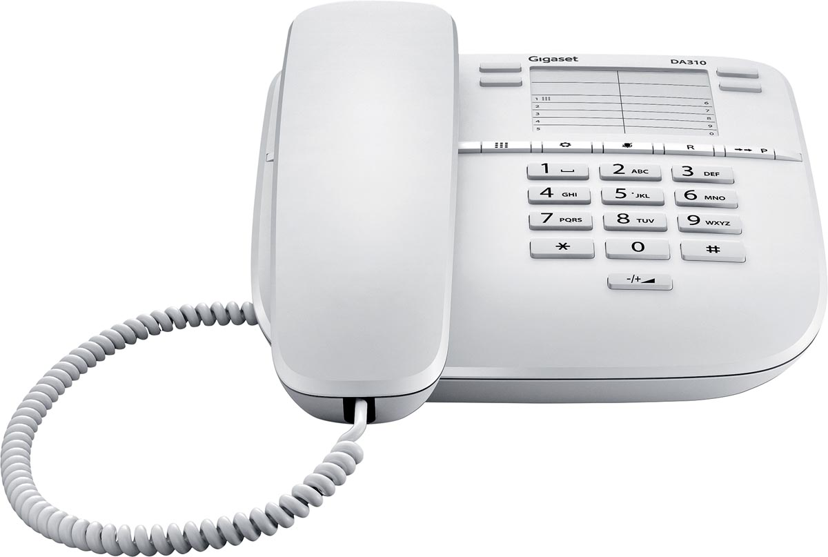 Gigaset DA310 vaste telefoon, wit