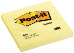 Post-it Notes, ft 76 x 76 mm, geel, blok van 100 vel