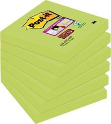 Post-it Super Sticky Notes, ft 76 x 76 mm, Neon kerrie, pak van 6 blokken