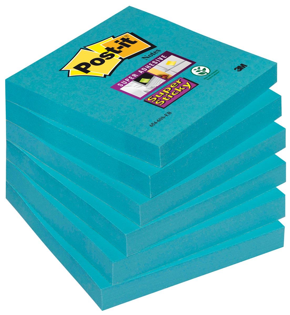 Post-It Notitieblok Super Sticky 76x76 el.bl-pk6 (70005198133)