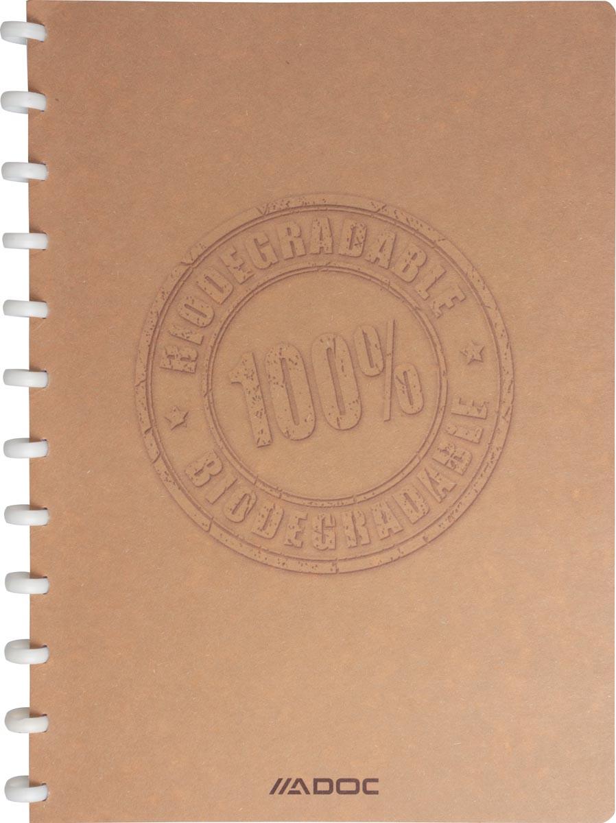 Adoc schrift Bio, ft A4, 144 bladzijden, geruit 5 mm,