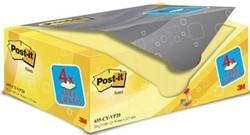 Post-it Notes, ft 76 x 127 mm, geel, 100 vel, pak van 16 + 4 gratis