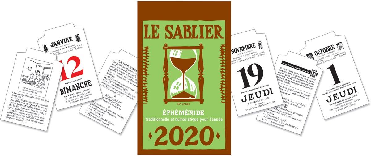 Dagblokkalender Le Sablier, 2020