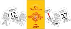 "Dagblokkalender ""De Druivelaar"", 2019"