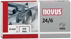 Novus nietjes 24/6 DIN, doos met 1000 nietjes