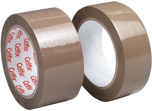 Celfix verpakkingsplakband ft 38 mm x 66 m, PP, bruin