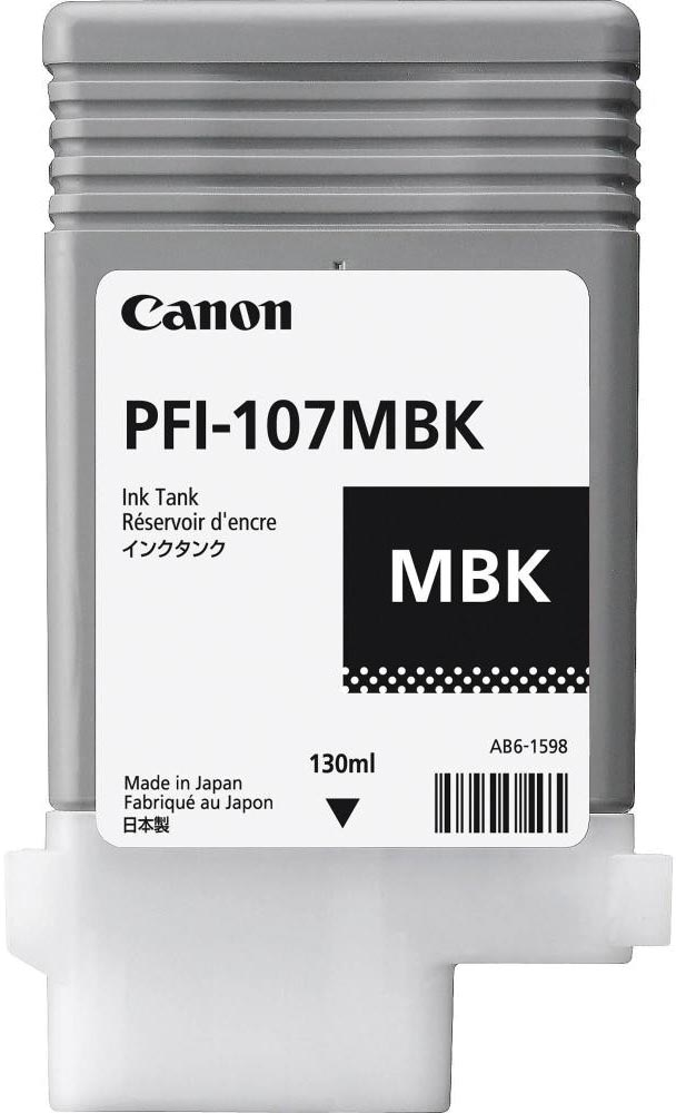 Canon inktcartridge PFI-107, 130 ml, OEM 6704B001, mat zwart