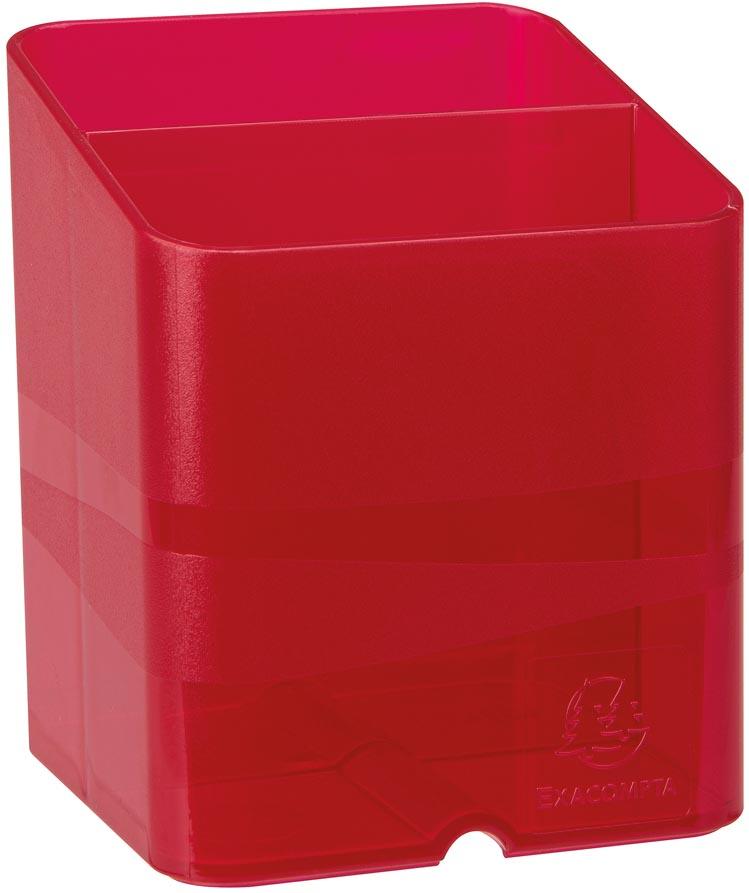 Exacompta pennenbakje PEN-CUBE, doorschijnend roze