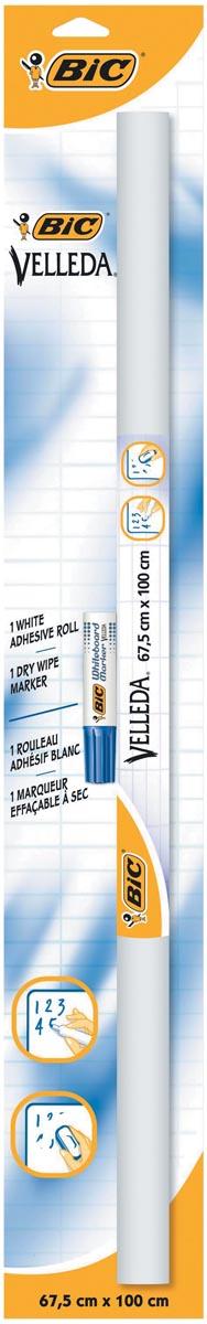 Bic zelfklevende rollen (whiteboard vellen) Velled ft 67 x 100 cm