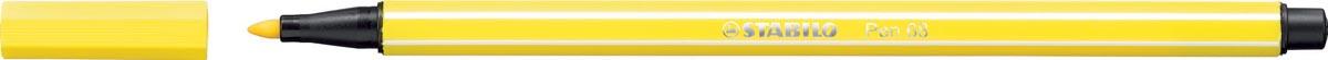 STABILO Pen 68 viltstift, citroengeel