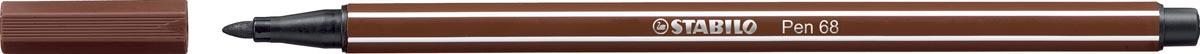 STABILO Pen 68 viltstift, bruin