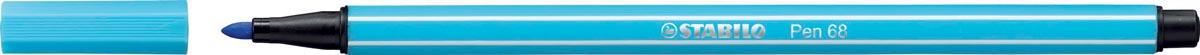 STABILO Pen 68 viltstift, azuurblauw