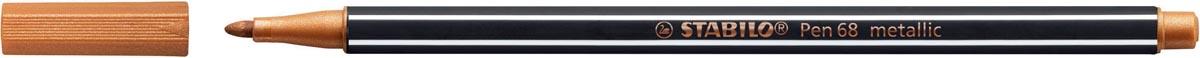 STABILO Pen 68 metallic viltstift, koper