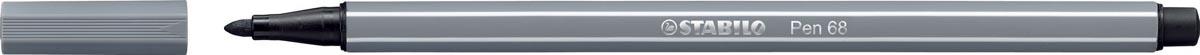 STABILO Pen 68 viltstift, donkergrijs