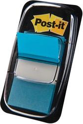 Post-it Index standaard, ft 25,4 x 43,2 mm, turkoois, houder met 50 tabs