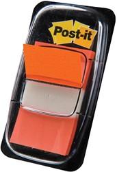 Post-it Index standaard, ft 25,4 x 43,2 mm, oranje, houder met 50 tabs