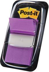 Post-it Index standaard, ft 25,4 x 43,2 mm, paars, houder met 50 tabs