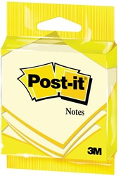 Post-it Notes, ft 76 x 76 mm, geel, blok van 100 vel, op blister