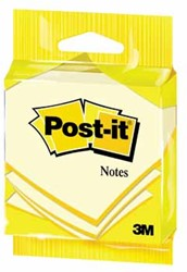 Post-it Notes, ft 76 x 76 mm, geel, blok van 100 vel, op blister