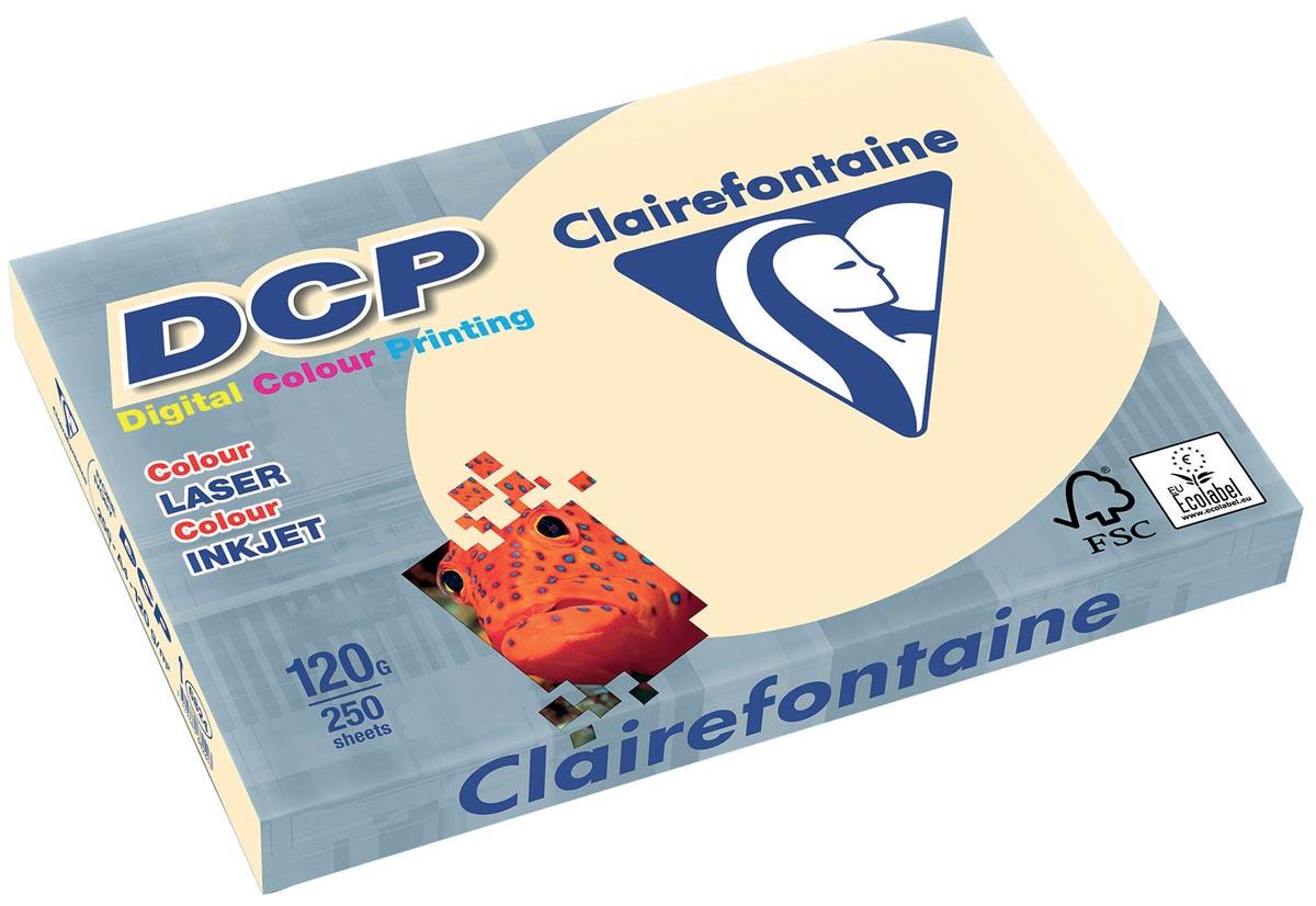 Clairefontaine DCP presentatiepapier A4, 120 g, ivoor, pak van 250 vel