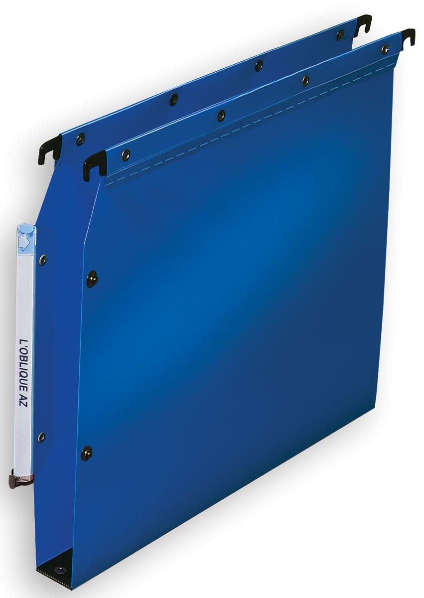 L'Oblique hangmappen voor kasten Ultimate bodem 30 mm, blauw