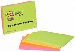 Post-it Meeting notes Super Sticky, 149 x 200 mm, 4 blokken van 45 blaadjes in 4 kleuren