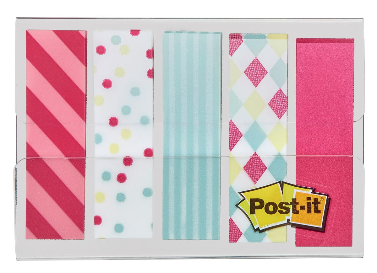 Post-it Index, Candy Collection, ft 11,9 mm x 43,2mm, 5 x 20 stuks