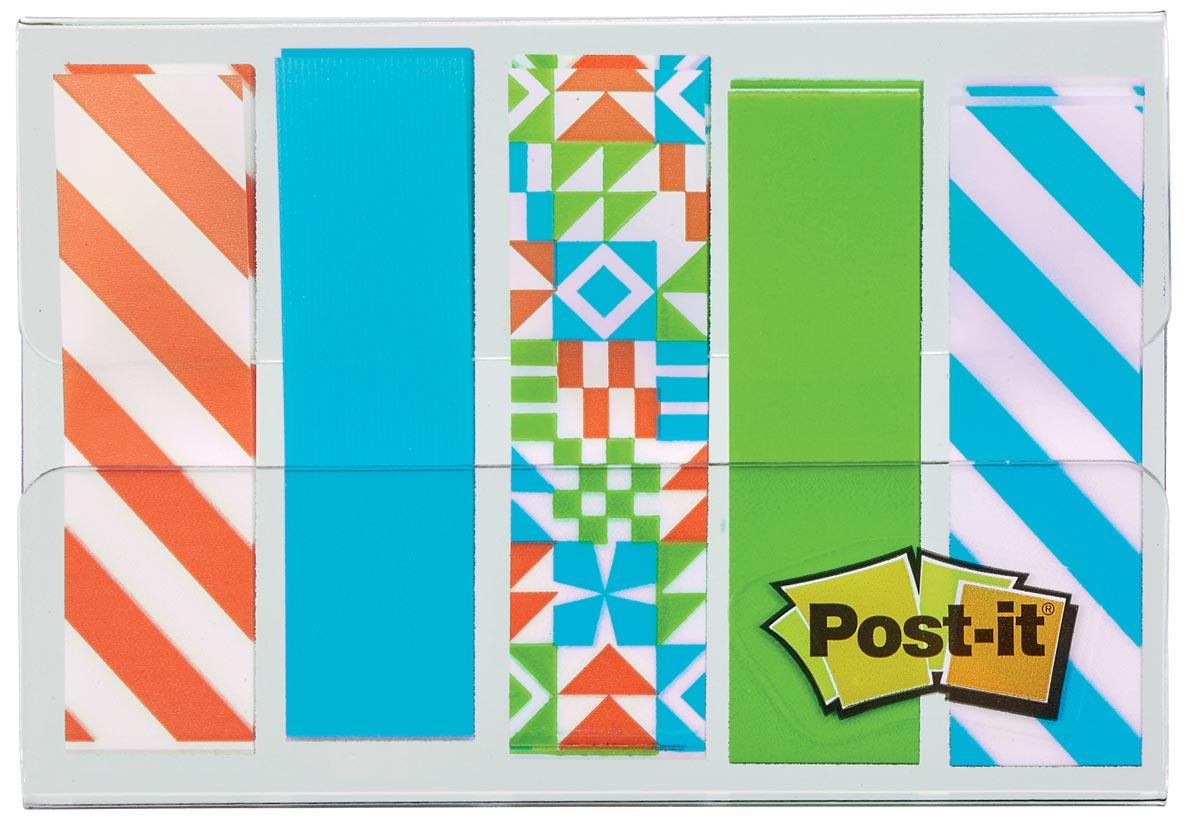 Post-it Index, Geos motief collectie, ft 11,9 mm x 43,2mm, 5 x 20 stuks