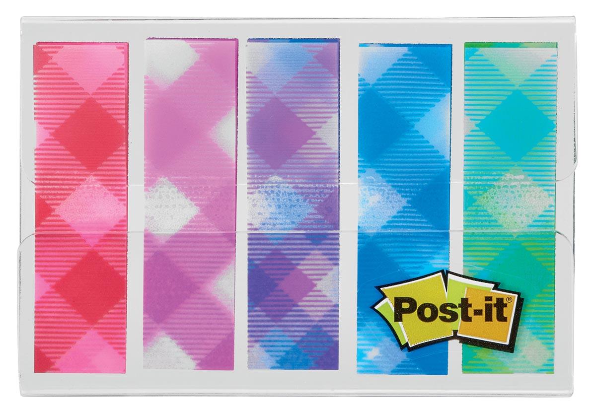 Post-it Index,plaid motive collection, ft 11,9 mm x 43,2mm, 5 x 20 stuks