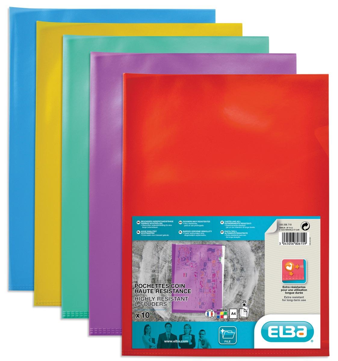 Elba L-map Style, geassorteerde kleuren, pak van 10 stuks