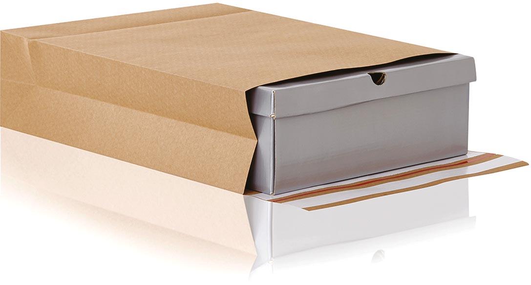 e-Green enveloppen met blokbodem, ft 350 x 450 x 120 + 100 mm, doos van 200 stuks