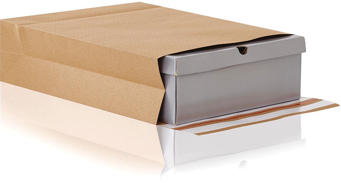 e-Green enveloppen met blokbodem, ft 350 x 450 x 80 + 100 mm, doos van 200 stuks