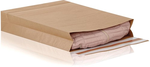 e-Green enveloppen met blokbodem, ft 400 x 500 x 100 + 100 mm, doos van 100 stuks