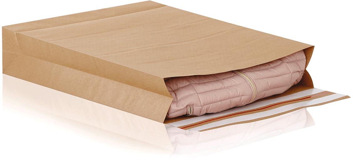 e-Green enveloppen met blokbodem, ft 590 x 450 x 100 + 95 mm, doos van 100 stuks
