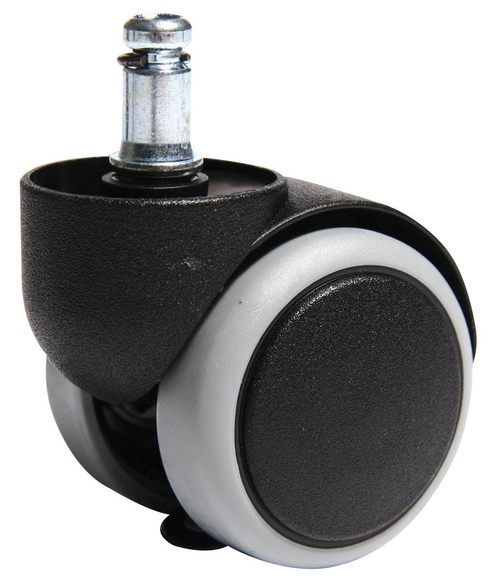 STAR wielen voor harde bodem, geschikt voor meeste bureaustoelen TopSTAR en STAR, pak van 5 stuks