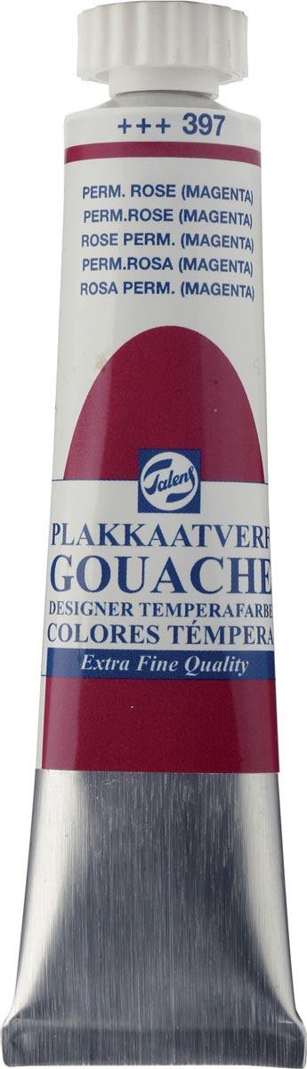 Talens plakkaatverf Extra Fijn tube van 20 ml, permanent roze (magenta)