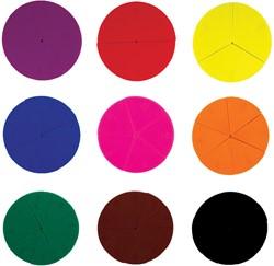 Bouhon cirkelsegmenten, zak met 51 stuks in geassorteerde kleuren