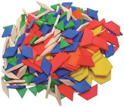 Bouhon blokken, pak met 250 stuks in geassorteerde kleuren