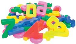 Bouhon cijfers, zak met 64 stuks in geassorteerde kleuren