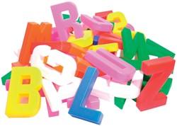 Bouhon letters, zak met 60 stuks in geassorteerde kleuren