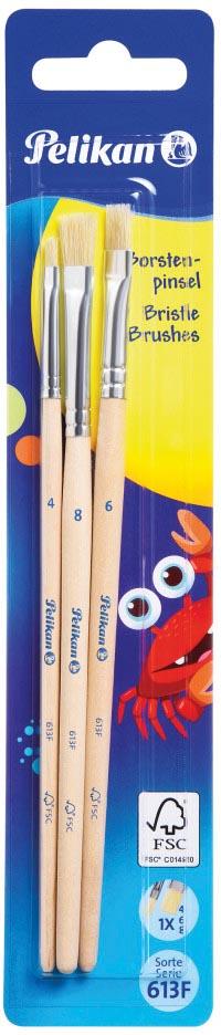 Pelikan penselenset S613F, blister van 3 stuks, nr 4, 6 en 8