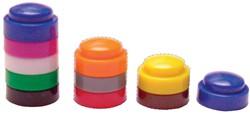 Bouhon stapelbare dopjes, zak met 500 stuks in geassorteerde kleuren