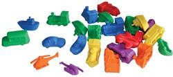 Bouhon sorteervoertuigen, zak met 72 stuks in geassorteerde kleuren