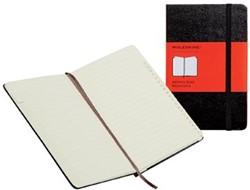Moleskine adresboek, ft 9 x 14 cm, gelijnd, harde cover, 192 bladzijden, zwart