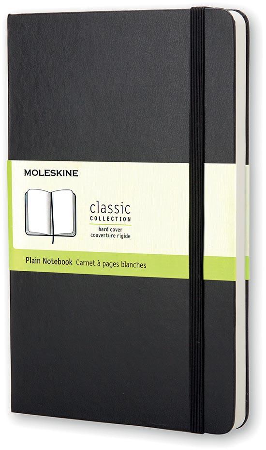 Moleskine notitieboek, ft 13 x 21 cm, effen, harde cover, 240 bladzijden, zwart
